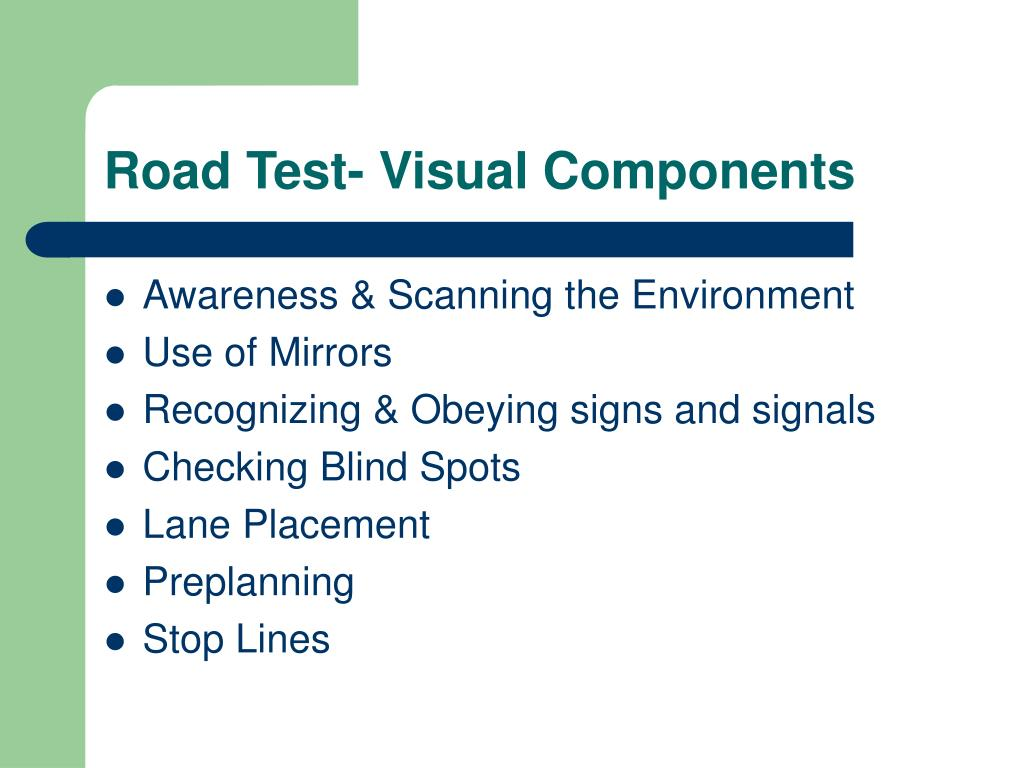 Road Test- Visual Components