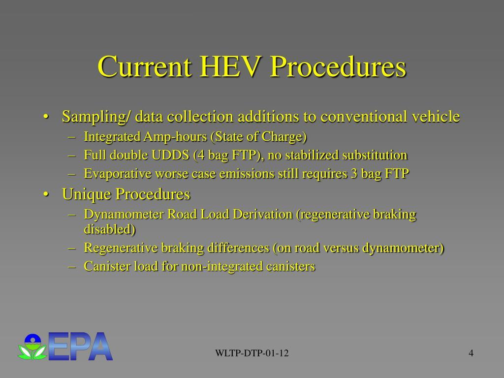 Current HEV Procedures