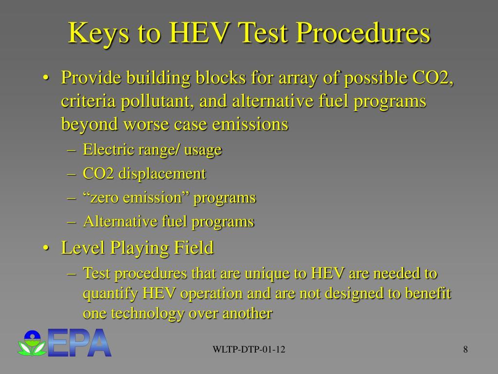 Keys to HEV Test Procedures