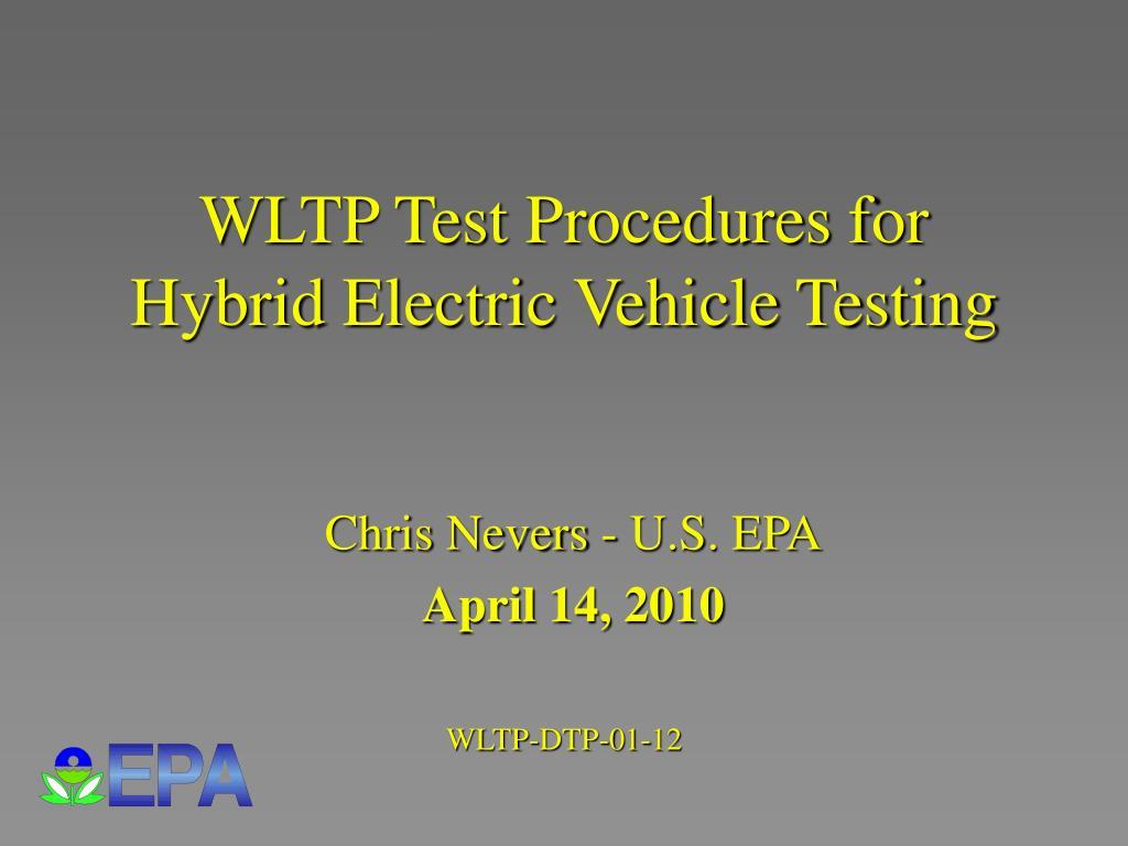 WLTP Test Procedures