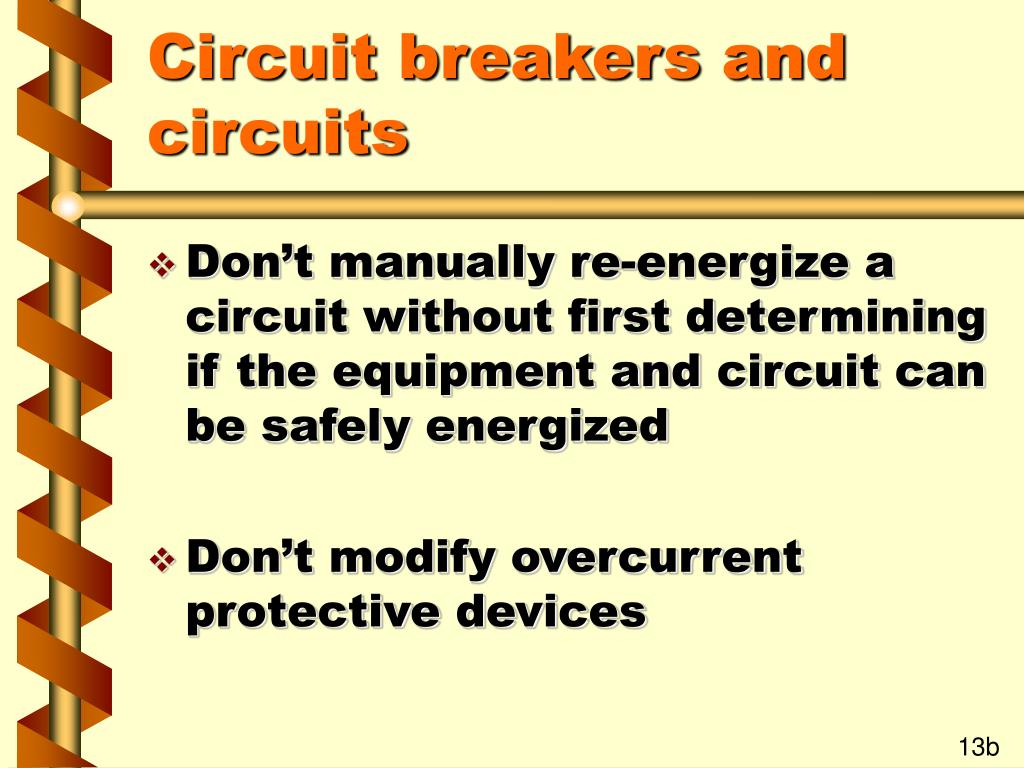 Circuit breakers and circuits