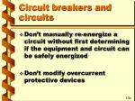 circuit breakers and circuits37