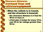 clearance distances overhead lines and vehicles equipment17