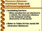 clearance distances overhead lines and vehicles equipment18
