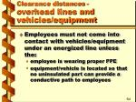 clearance distances overhead lines and vehicles equipment19