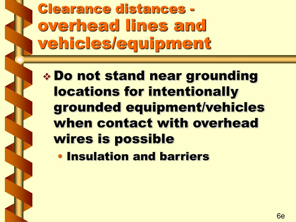 Clearance distances -