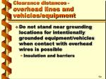 clearance distances overhead lines and vehicles equipment20