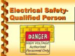electrical safety qualified person