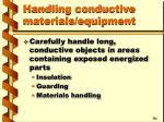 handling conductive materials equipment24