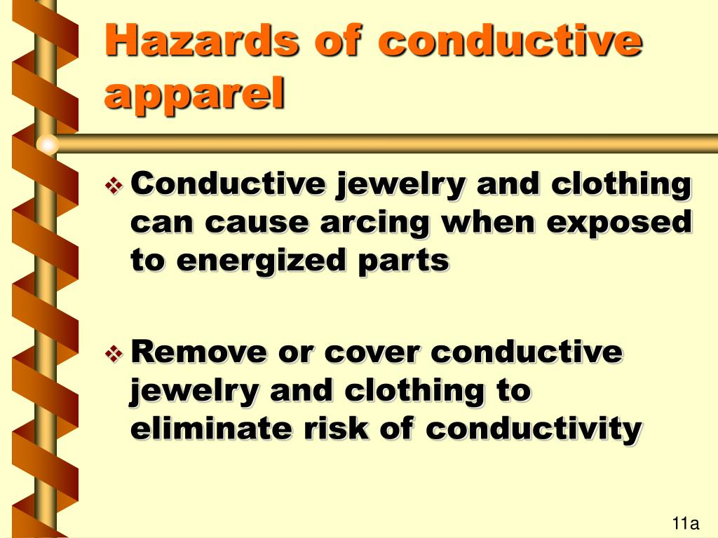 Hazards of conductive apparel