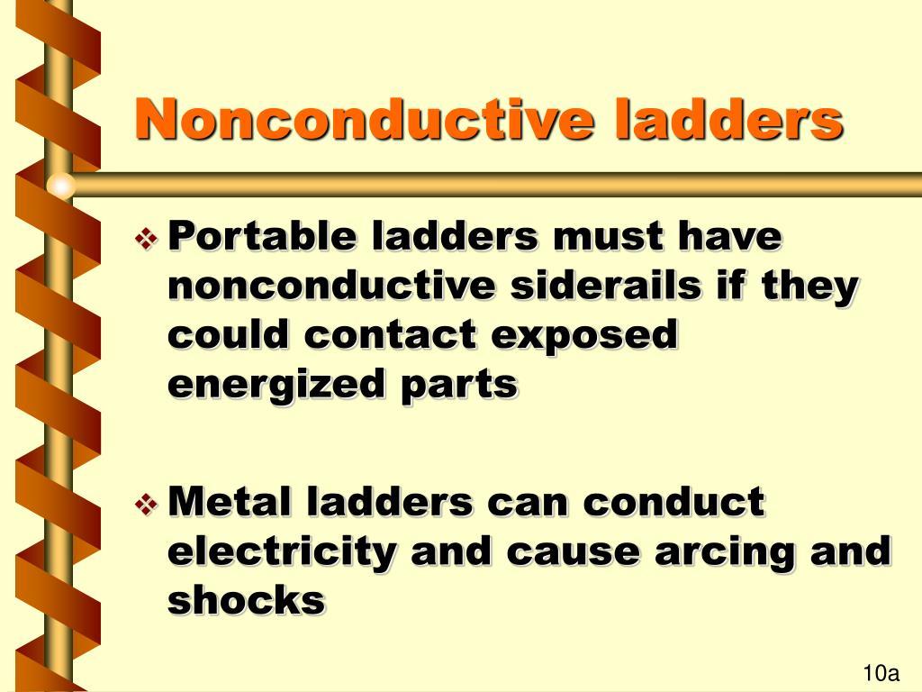 Nonconductive ladders