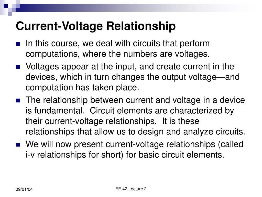 Current-Voltage Relationship