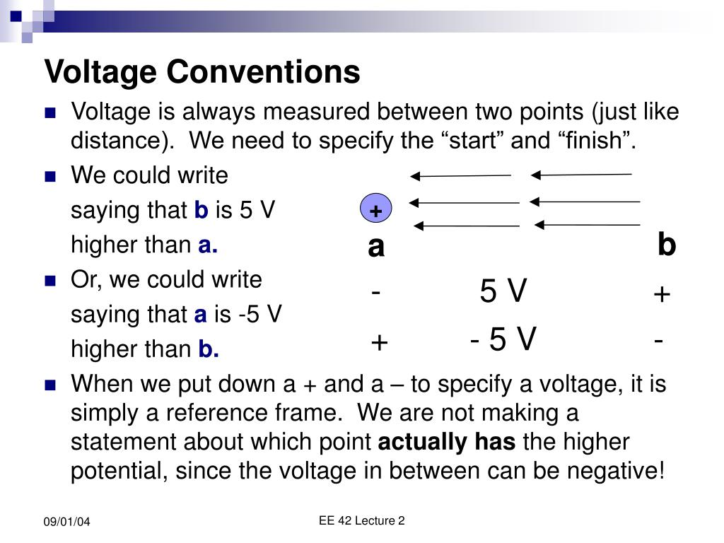 Voltage Conventions