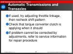 automatic transmissions and transaxles64