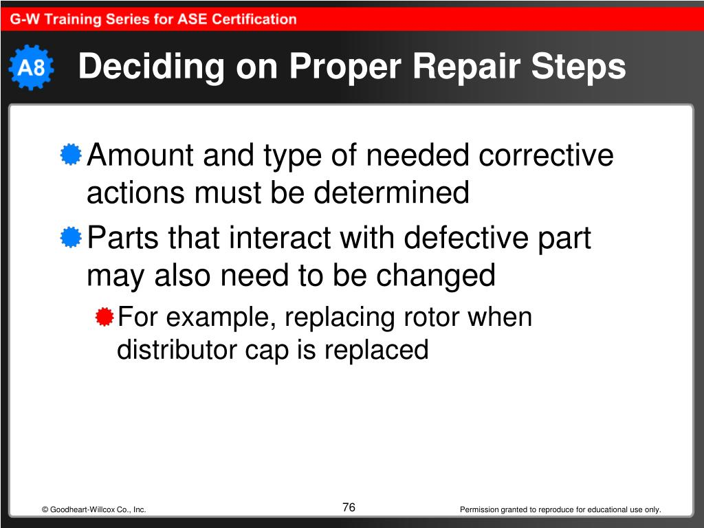 Deciding on Proper Repair Steps