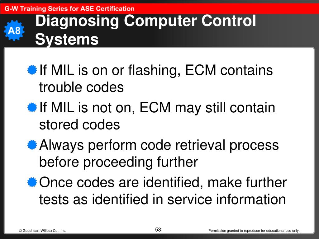 Diagnosing Computer Control Systems