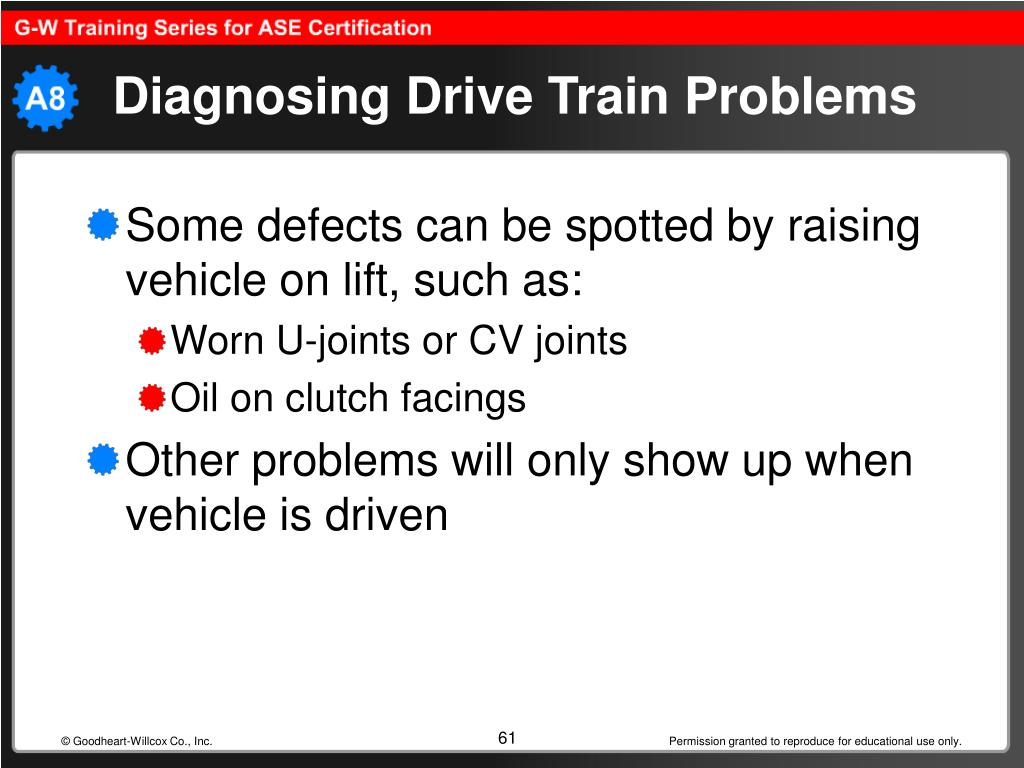 Diagnosing Drive Train Problems