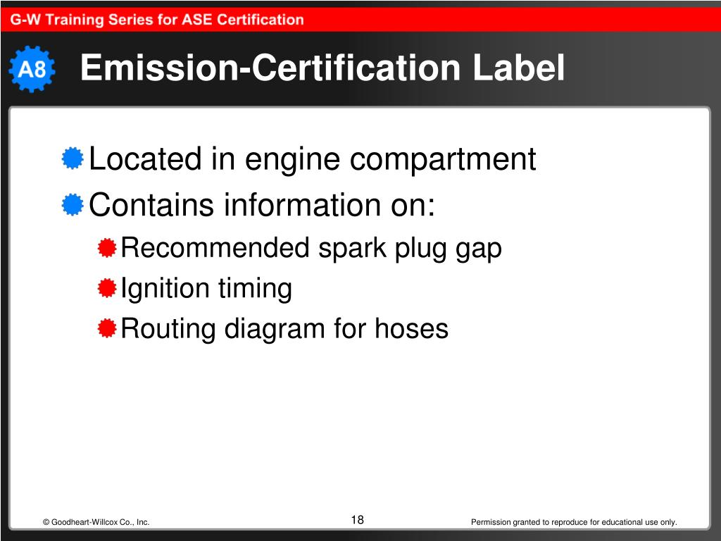 Emission-Certification Label