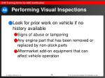 performing visual inspections35