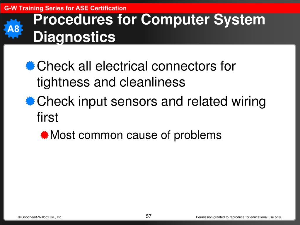 Procedures for Computer System Diagnostics