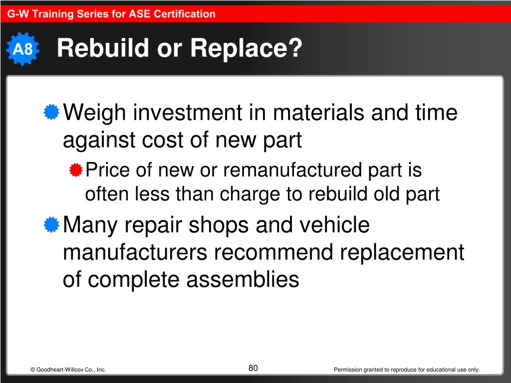 Rebuild or Replace?