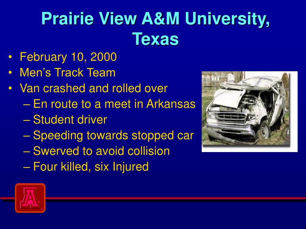 Prairie View A&M University, Texas