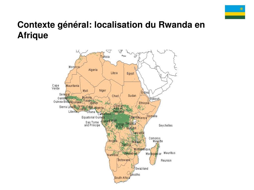 Contexte général: localisation du Rwanda en Afrique