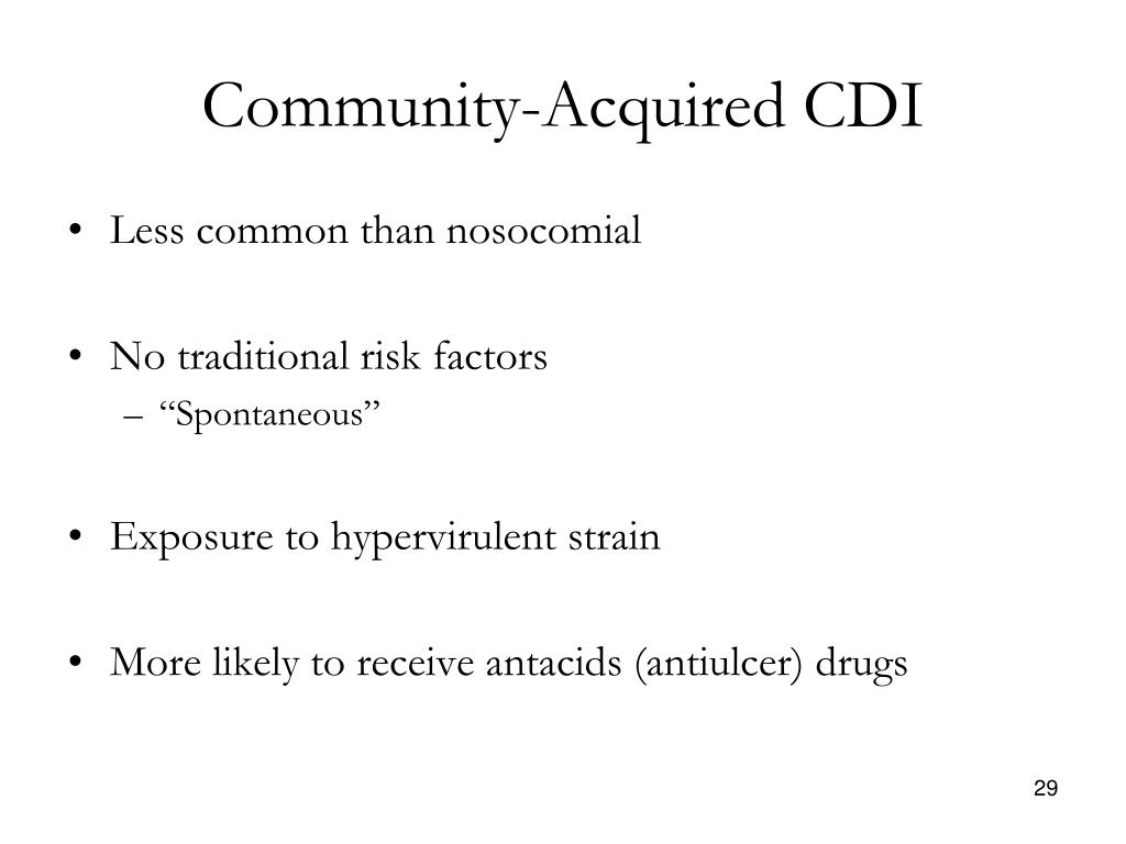 Community-Acquired CDI