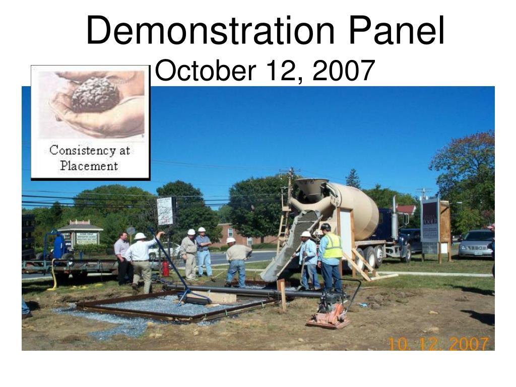 Demonstration Panel