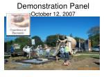 demonstration panel october 12 2007