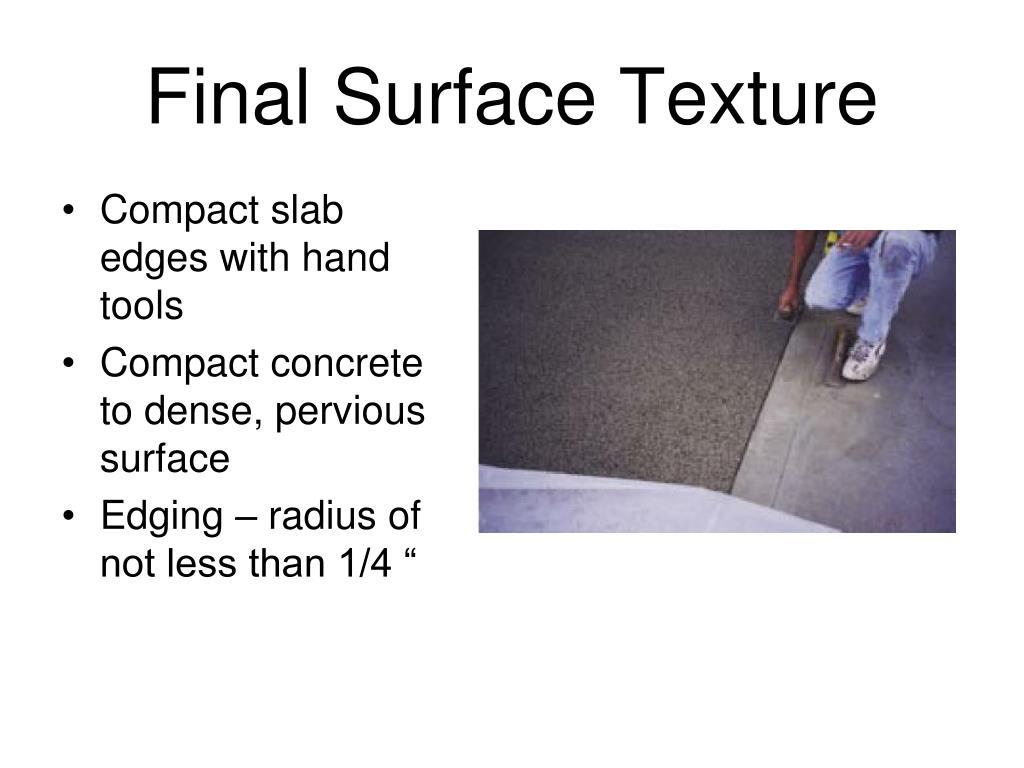 Final Surface Texture