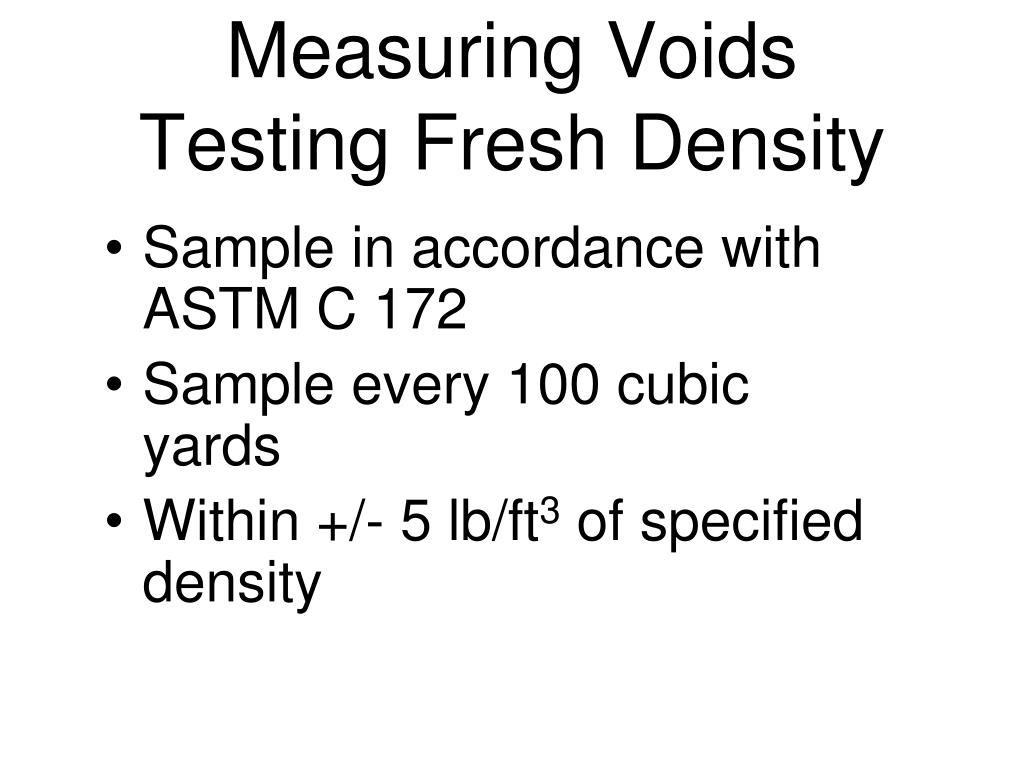 Measuring Voids