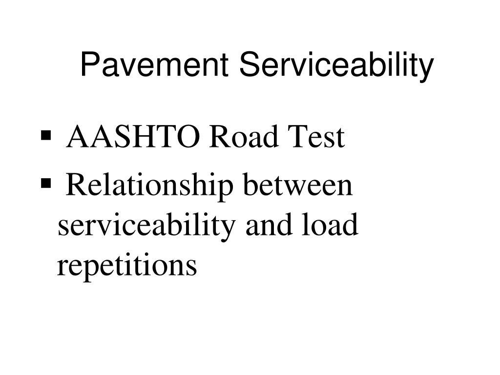 Pavement Serviceability