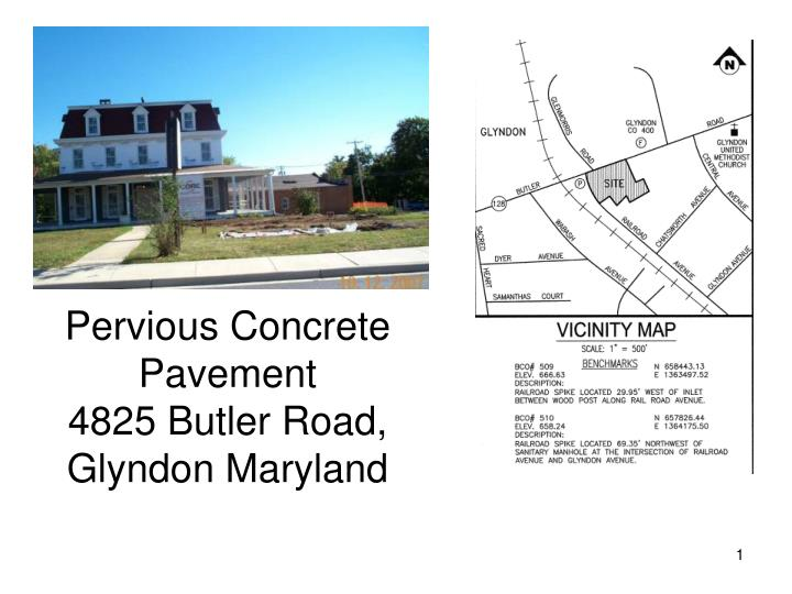 Pervious concrete pavement 4825 butler road glyndon maryland