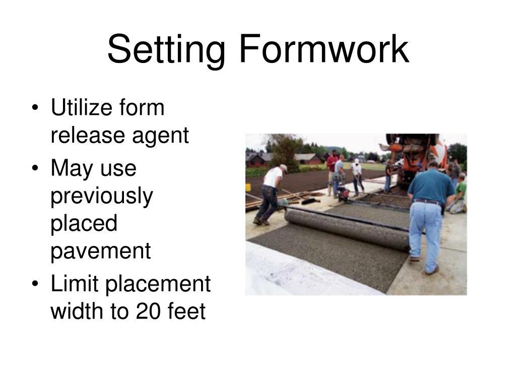 Setting Formwork
