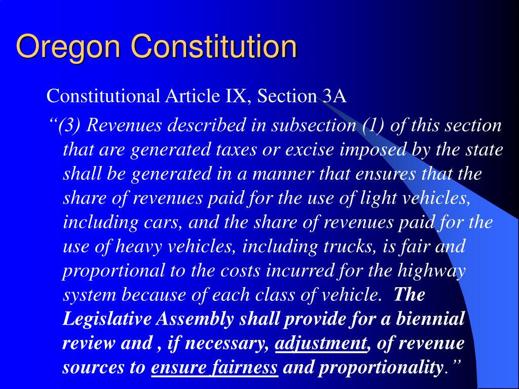 Oregon Constitution