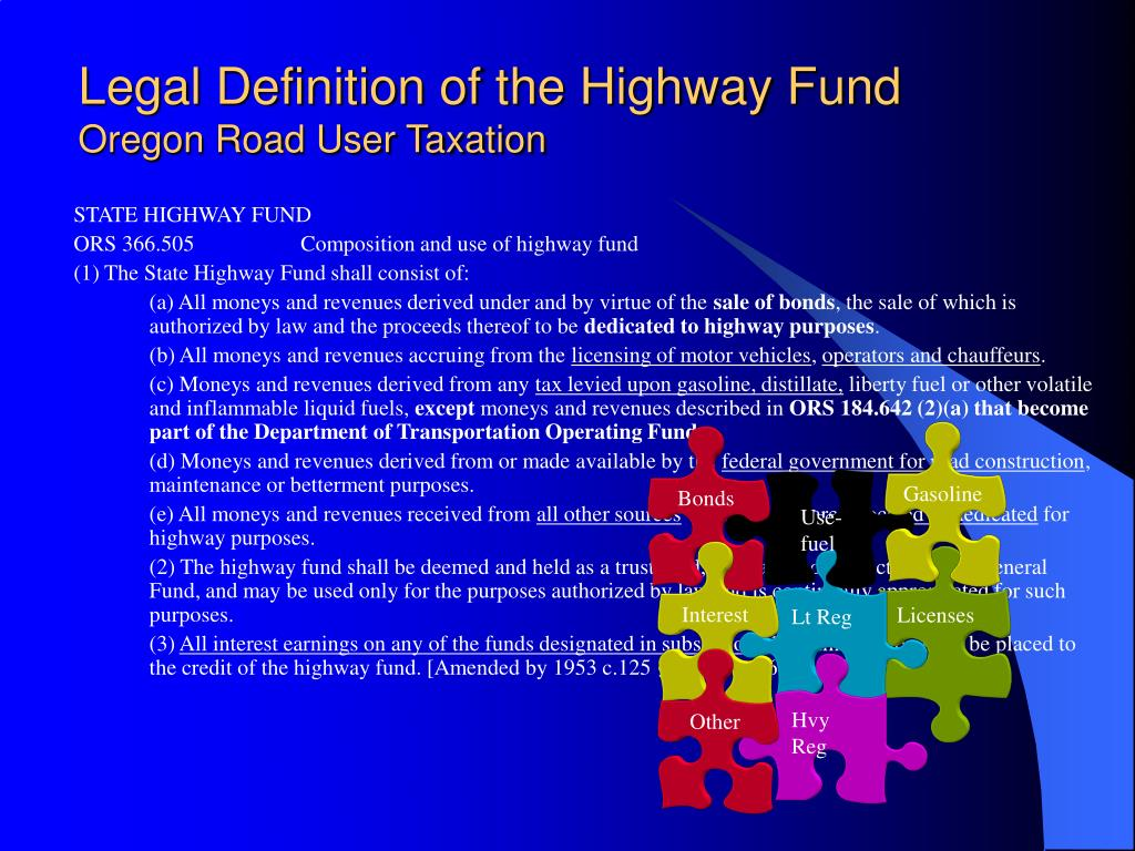 Legal Definition of the Highway Fund