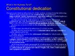 what is the highway fund constitutional dedication