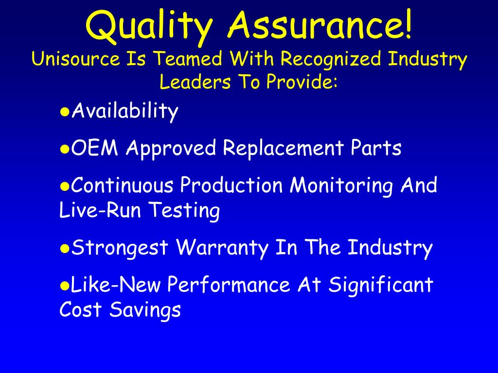 Quality Assurance!