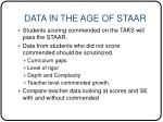 data in the age of staar29