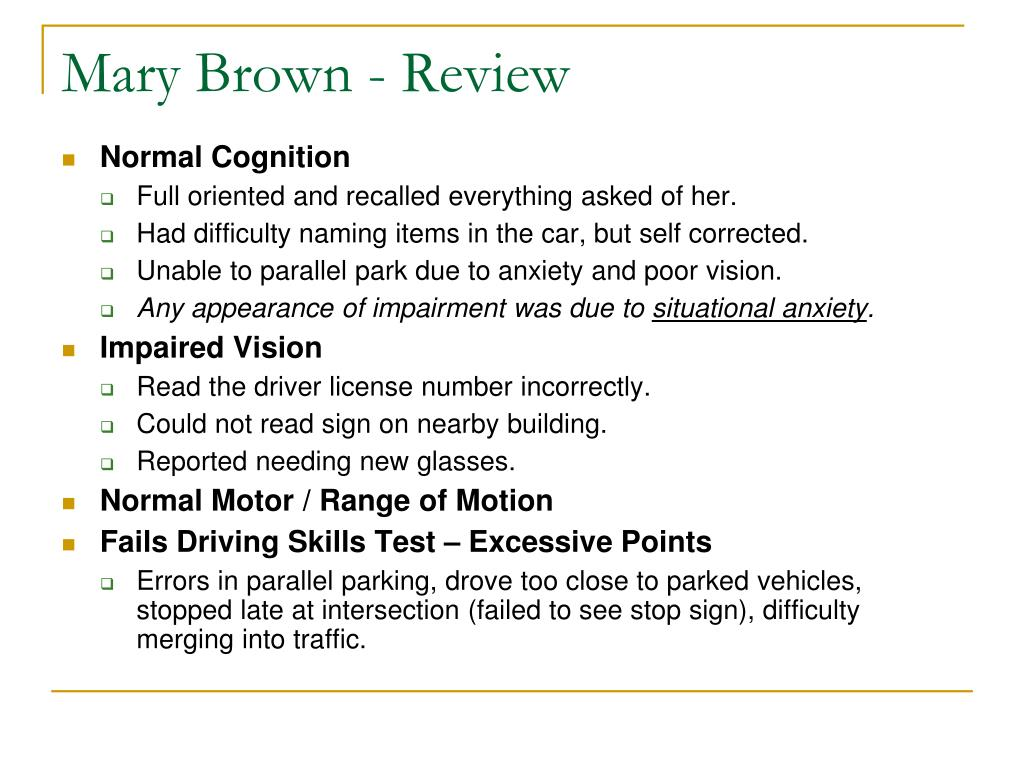 Mary Brown - Review