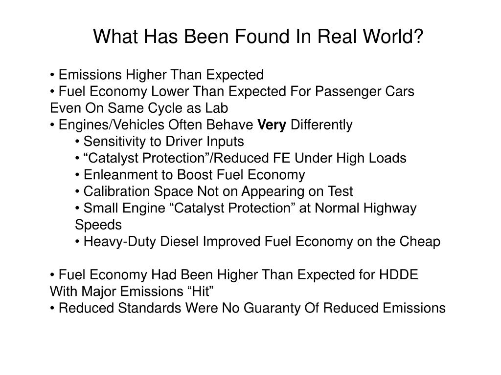 What Has Been Found In Real World?