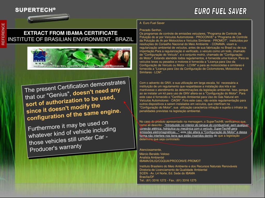 A  Euro Fuel Saver