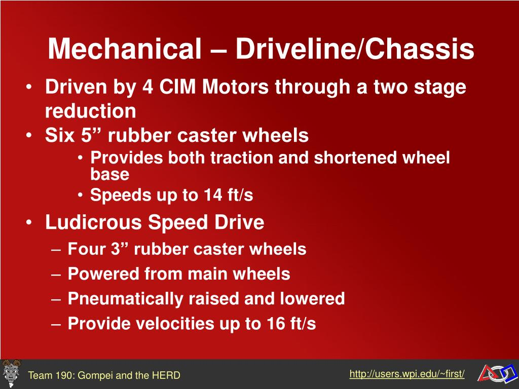 Mechanical – Driveline/Chassis
