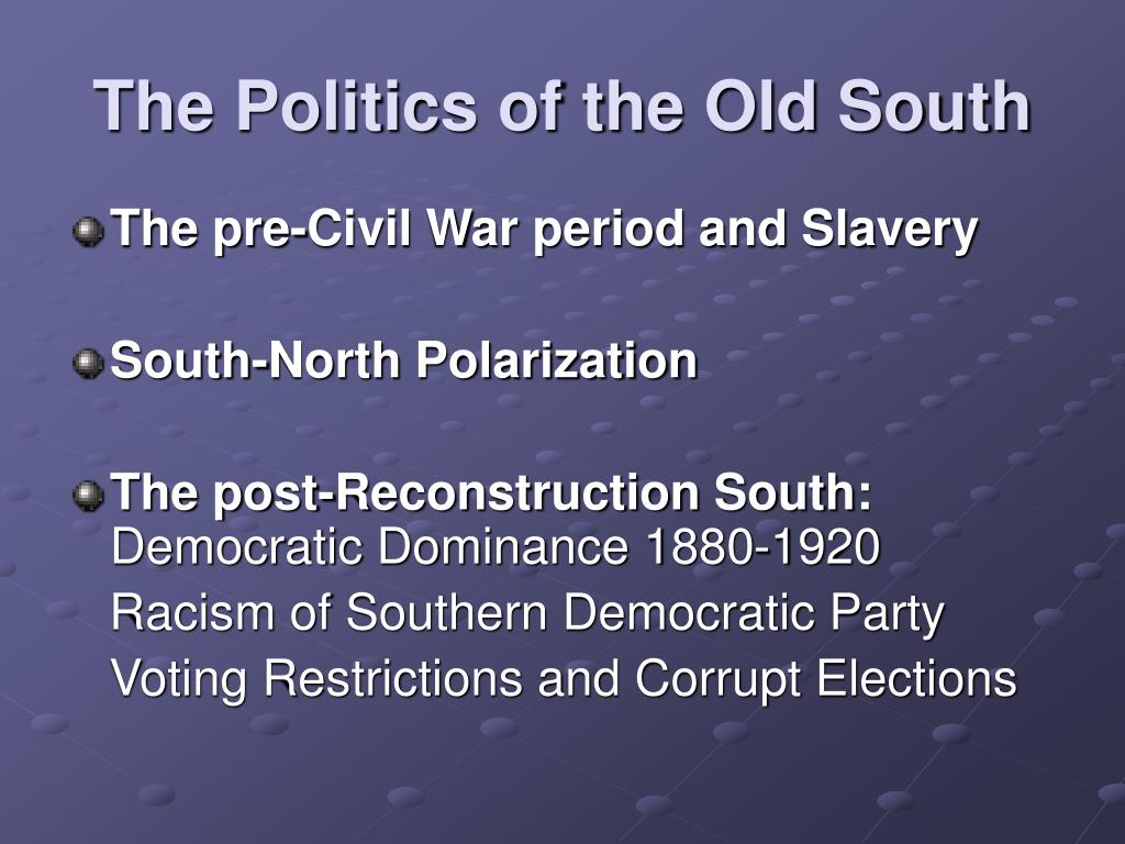 an analysis of the republican and democratic parties in the post civil war presidential elections Find out more about the history of presidential elections but memories of the civil war forming the silver republican party the democratic party.