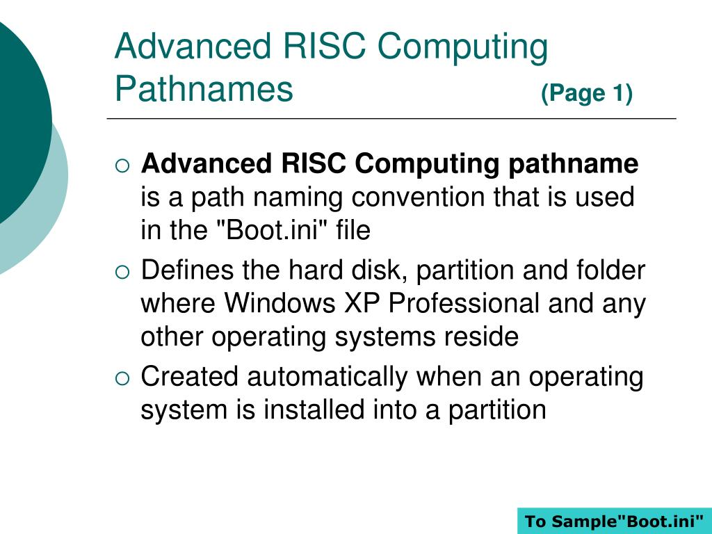 Advanced RISC Computing Pathnames