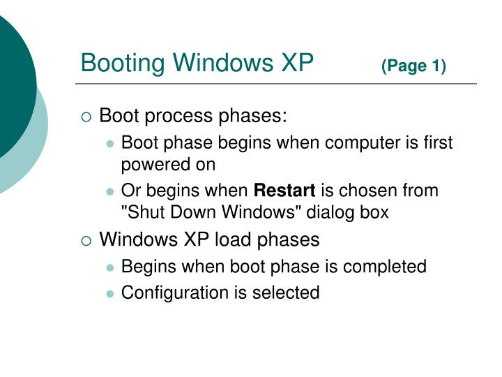 Booting windows xp page 1