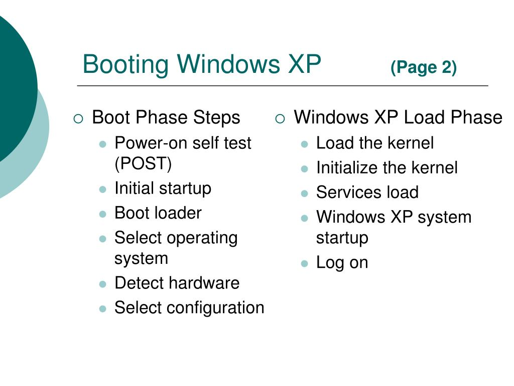 Boot Phase Steps