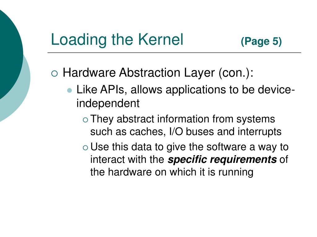Loading the Kernel