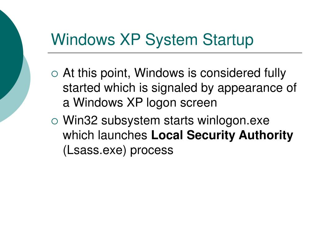 Windows XP System Startup